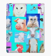 Animal paintings collage for nursery wall iPad Case/Skin