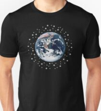 The Earth set amid innumerable stars T-Shirt