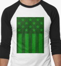 The grass and stripes Men's Baseball ¾ T-Shirt