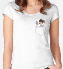 Dust & Brush (Pocket) Women's Fitted Scoop T-Shirt