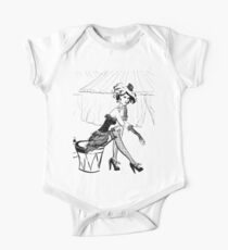 Fashion Circus Girl Portrait One Piece - Short Sleeve