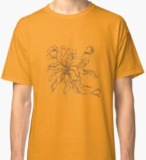 Bridal Bouquet.Hand drawn watercolor and brown ink drawing  Classic T-Shirt