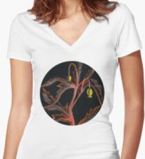 Wild Plant Women's Fitted V-Neck T-Shirt