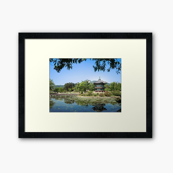 Gyeongbokgung, Palace District in Seoul, South Korea Framed Art Print