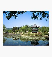 Gyeongbokgung, Palace District in Seoul, South Korea Photographic Print