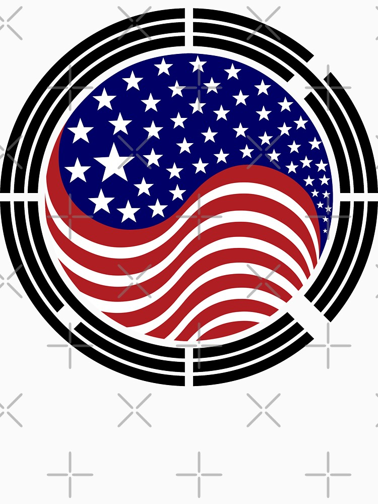 Korean American Multinational Patriot Flag Series by carbonfibreme