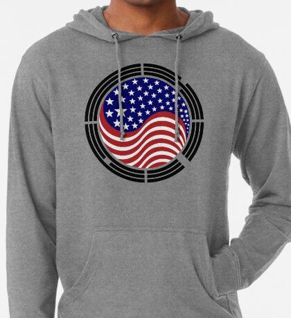 Korean American Multinational Patriot Flag Series Lightweight Hoodie