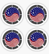 Korean American Multinational Patriot Flag Series Sticker