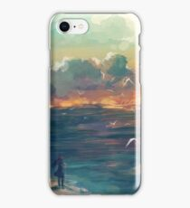 The girl who loved the sea iPhone Case/Skin