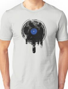 Melting Vinyl Records Oldies Retro Design T-Shirt