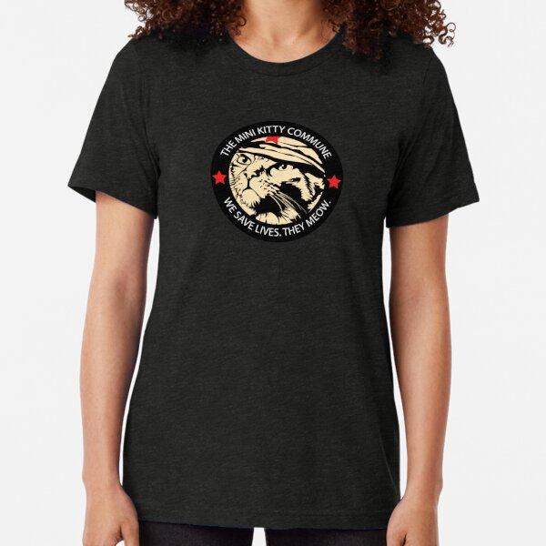 Chairman Meow - Patch Dark Tri-blend T-Shirt
