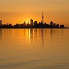 Brilliant Golden Yellow Toronto Skyline by Georgia Mizuleva
