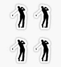 Golfers Silhouette Design Sticker