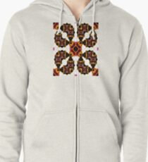 Thoughts Of Autumn Watercolor Zipped Hoodie