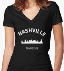 Nashville Women's Fitted V-Neck T-Shirt