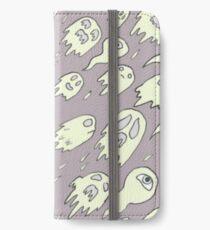 Purple Ghost Pattern iPhone Wallet/Case/Skin