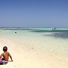 Bathing at Sorobon Beach, Bonaire by Kasia-D