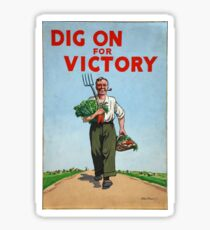 Dig on for Victory Sticker