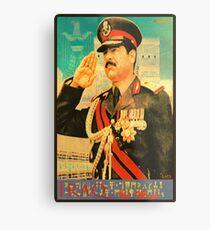 Saddam Propaganda  Metal Print