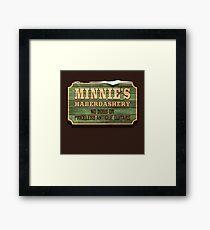 Minnie's Haberdashery Framed Print