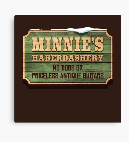 Minnie's Haberdashery Canvas Print