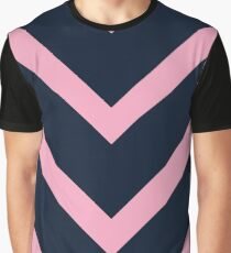 v lines - pink and navy Graphic T-Shirt
