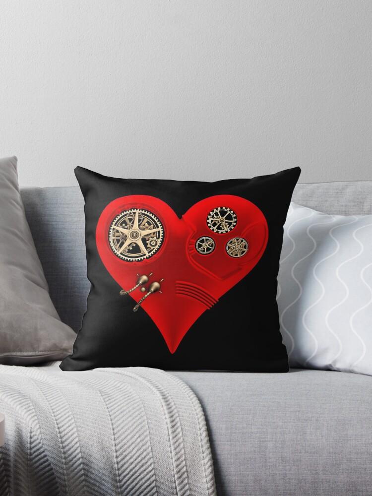 Steampunk Red Clockwork Heart by Steve Crompton