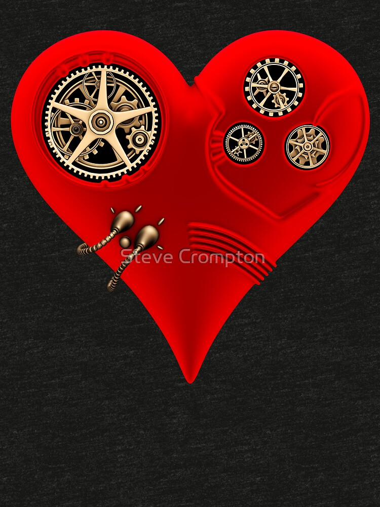 Steampunk Red Clockwork Heart by SC001