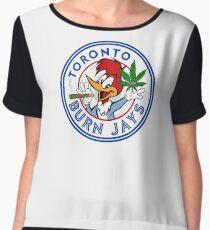 Toronto Burn Jays Chiffon Top