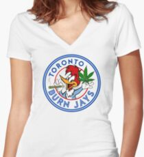 Toronto Burn Jays Women's Fitted V-Neck T-Shirt