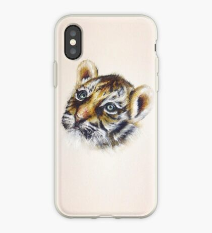 Tiger Cub Watercolour iPhone Case