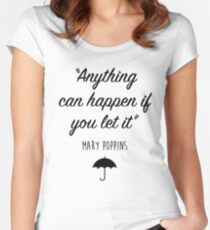 Mary Poppins - Anything can happen Women's Fitted Scoop T-Shirt