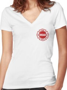 Chicago Fire Women's Fitted V-Neck T-Shirt