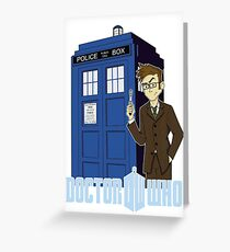 Dr Who Animated (no background) Greeting Card