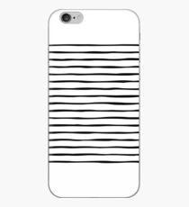 Irregular Stripes (Black) iPhone Case