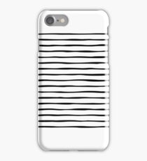 Irregular Stripes (Black) iPhone Case/Skin