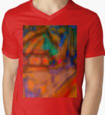 Colorful Abstract Art Laptop Skin Men's V-Neck T-Shirt