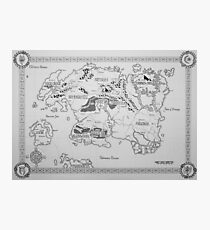 Elder Scrolls map in ink Photographic Print