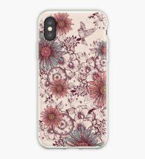 Vintage flower background iPhone Case