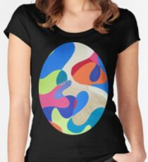Rainbow Waves Fitted Scoop T-Shirt