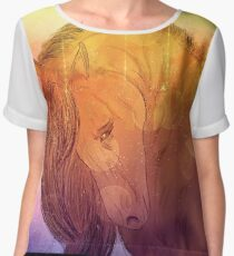 Horse portrait Women's Chiffon Top