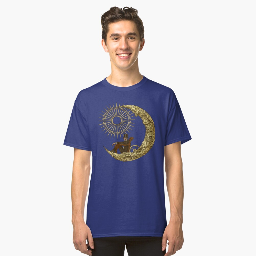 Moon Travel Classic T-Shirt Front