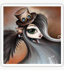 Steampunk Vampire Girl - Dark Angel Sticker