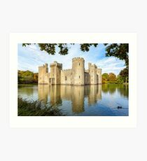 Bodiam Castle, East Sussex, England Art Print