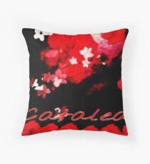 Relaxation Red Throw Pillow