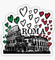 Roma flying hearts Sticker