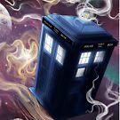 TARDIS In The Time Vortex by aunumwolf42
