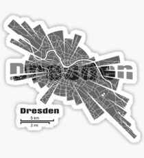 Dresden Map Sticker