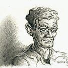 Sunglasses guy sketch by Sebastiaan Koenen