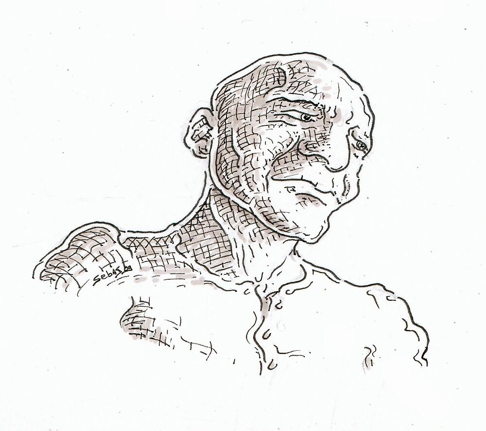 Staring (quick drawing) by Sebastiaan Koenen